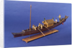 Burmese ceremonial barge, port by unknown