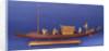 Burmese ceremonial barge, port broadside by unknown