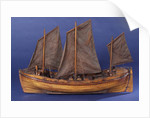 Full hull model, sailing lifeboat, port broadside by unknown