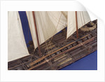 Full hull model, sailing liferaft, port by unknown