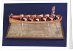 Full hull model of Admiral's Barge by unknown
