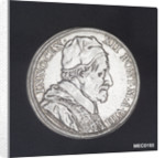 Scudo depicting Pope Innocent XII and the harbour of Anzio by G. Hamerani