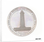 Two pence token commemorating the Eddystone lighthouse by W. Upcott