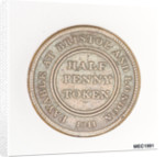 Bristol halfpenny token by T. Halliday