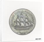 British naval halfpenny token by unknown