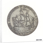 Portsmouth halfpenny token commemorating John Jervis, Earl St Vincent (1735-1823) and the battle of Cape St Vincent, 1797 by J. Pitt