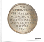 Halfpenny token commemorating His Majesty viewing the Dutch Prizes at the Nore, 1797 by unknown
