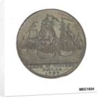 Portsmouth halfpenny token commemorating John Jervis, Earl St Vincent (1735-1823) and the battle of Cape St Vincent, 1797 by unknown
