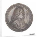 Commemorative medal depicting Charles I by John Roettier