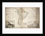 Map of South America by Herman Moll