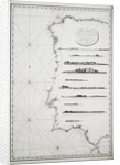 Chart of the coasts of Spain and Portugal, from Cape Pinas to the Strait of Gibraltar, constructed and carefully drawn from the most recent observations made by the officers of the French and Spanish navies by P Steel
