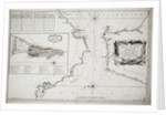 Chart of Gibraltar by Jacques Nicolas Bellin