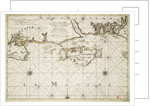 Chart of the English coast, Isle of Wight and Portsmouth harbour by Alexis Hubert Jaillot