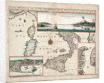 Map containing the island and kingdom of Sicily, with a part of Naples, and other adjacent coasts including the Tyrrhenean Sea by John Seller