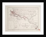 General map of telegraph lines between Europe, India, Australia, and China by Oriental Telegraph Company Ltd