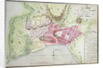 Plan of Jacmel town with fortifications by Sorrel