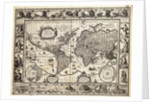 Mercator map of the world, 1606 by W.J. Blaeu