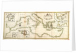 Chart of the Mediterranean, 1730 by Charles Price