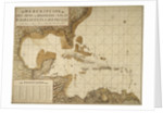 Chart of the Gulf of Mexico and Caribbean islands, 1742 by Miol Polo