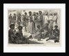 Slave dealers and slaves, a street scene in Zanzibar by unknown