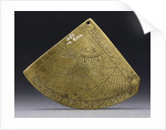 Reverse of astrolabe quadrant by unknown