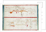Chart of Santiago Astata and Bahia Ventosa by Basil Ringrose