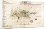 Vellum chart of Cyprus, 1554 by Battista Agnese