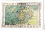Map of Scandinavia, 1554 by Battista Agnese