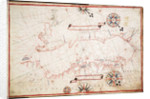 Adriatic chart, circa 1620 by unknown