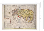 World map after Ptolemy, 1513 by unknown