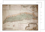 Draught of the Island Rattan in the bay of Honduras in latitude 16 degrees 22' north by Lieutenant Henry Barnsley 1742 by Henry Barnsley