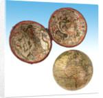 Terrestrial and celestial pocket globe by Richard Cushee
