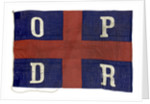 House flag, Oldenburg Portugiesische Dampschiffs Rhederei by unknown