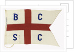 House flag, British Continental Steamship Co. Ltd by unknown