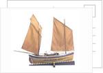 Ebenezer' (1867), starboard broadside by Max T. Davey