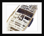 Accommodation model, yacht, overhead detail, forecabins by unknown