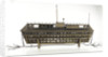 Design model, refuge asylum, broadside, with mooring chains by unknown