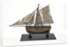Full hull model, cutter type yacht, port broadside by unknown