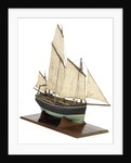 Full hull model, chasse marie, starboard by unknown