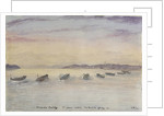 Gamla Carleby, June 7th 1854. The boats going in. by Dr Edward Hodges Cree