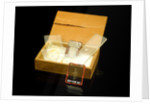 Microscope slides and box by unknown