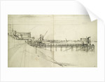Study for a jetty at Greenwich by Jesse Dale Cast