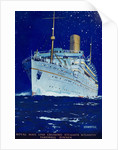 Front cover of menu from steamer 'Atlantis', farewell dinner by Kenneth D. Shoesmith
