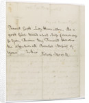 Last letter from Nelson to Horatia, page two by Horatio Nelson