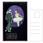 Front cover of menu from RMSP 'Araguaya': fancy dress dance, depicting ballerina and perriot by Kenneth D. Shoesmith