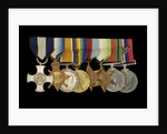 Medals awarded to Cdr J. L. Younghusband DSC (obverse, l to r, MED1228-1235) by Garrard & Co.