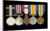 Medals awarded to Arthur Robert Blore (obverse, left to right, MED1860-1864) by B. Mackennal