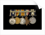 Medals awarded to Petty Officer Cecil Ernest Edgar Miles DSM (reverse, r to l, MED1393-1397) by B. Mackennal