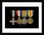 Medals awarded to Captain Frederick Henry Taylor CBE DSC RN (obverse, l to r, MED1412-1415) by unknown