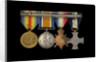 Medals awarded to Captain Frederick Henry Taylor CBE DSC RN (reverse, r to l, MED1412-1415) by unknown